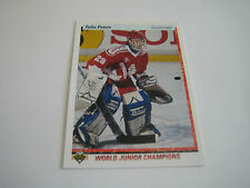 1990/91 Upper Deck Hockey Felix Potvin Card #458***Team Canada***