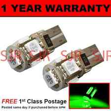 W5W T10 501 CANBUS ERROR FREE GREEN 5 LED SIDELIGHT SIDE LIGHT BULBS X2 SL101301