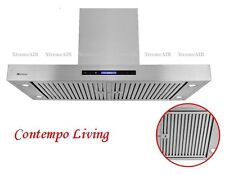 "Xtreme Air 42"" European Style Island Mount Range Hood with Baffle Filter"