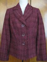 New w/tags Jones New York Women's Burgundy Lined Blazer  Size10  Retail $169