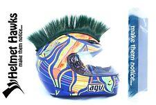 Helmet Hawks ™ Mohawk Florest Green Motorcycle Bike BMX Helmet Mohawks