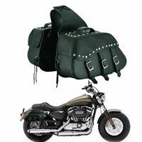 Motorbike Motorcycle PU Leather Large Luggage Saddle Bags Pannier Side Tool UK