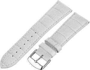 Hadley-Roma Men's MS898 Alligator Grain Genuine Leather Buckle Watch Band
