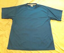 NWOT MENS KOMFIT ATHLETIC POLYESTER SHIRT XL BLUE