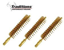 Traditions Bronze Bristle Cleaning Brush .50/.54 Cal. Package of 3  # A1278 New!
