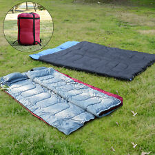 Outdoor Camping Travel Warm Double Sleeping Bag Camp Adult Cozy