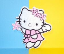 *USA Seller** Hello Kitty Angel Flower Wreath patch iron on embroidered applique
