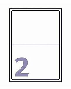 20 2 Per Page A4 Sticky Labels White Address 199.6 x 143.5mm Sheets Laser Office