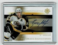 2005-06 Ultimate Collection Signatures Brian Leetch #US-BL Auto HOF