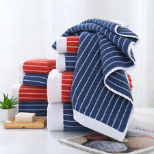 100% Cotton Stripe Towel – Bath Sheet Bath Towel Hand Towel Face Washer Bath