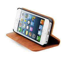 Wallet Stand Genuine Leather Case For iPhone 5S Book Style  With Card Holder