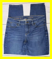 Talbots Womens Signature Ankle Jeans Size 6 Petite (30x26) Stretch Skinny Crop