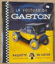 LA VOITURE DE GASTON MAQUETTE EN CARTON AROUTCHEFF FIAT 509 NEUF SOU CELLO