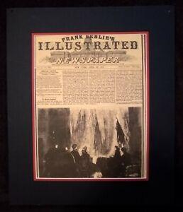 Vintage Leslie's Illustrated Newspaper - April 29, 1865 - Lincoln Assassination