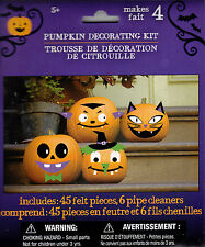 New Halloween Pumpkin Decorating Kit Makes 4 ~ Felt Stickers FREE SHIPPING
