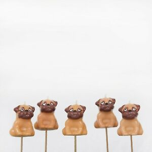 PREMIUM 3D Pug Party Cake Candles, Birthday Cake, Cake Topper