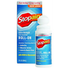 Stopain Extra Strength Pain Relieving Roll On 3Oz Each