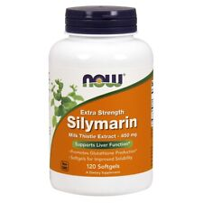Now Foods Silymarin Milk Thistle 450Mg 120 Softgels Made in USA FREE SHIPPING