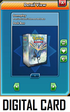 Pokemon TCG ONLINE Xerneas DIGITAL CARD Deck Box and Card Sleeves