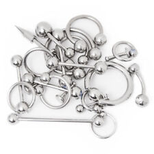 20 Pcs. Body Piercing Jewelry Mixed Gauges and Lengths Surgical Steel