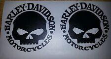 2 Stück Harley Davidson Logo Aufkleber in Schwarz  Matt 10 ×10 cm.Top