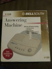 Bellsouth Answering Machine 1129 White 20+ Features Call Screening V.O.X. + Nib
