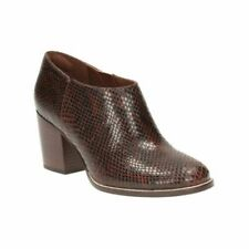 Clarks Othea Ada Dark Tan Snake Leather Women's Boots Sie UK 6 1/2D