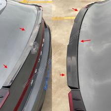 2020 2021 For Hyundai Sonata Glossy Black Rear Tail Trunk Spoiler Wing Lip Trim