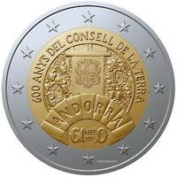 """2 Euro Gedenkmünze Andorra """"600. Jahrestag des Consell de la Terra"""" 2019 BU"""