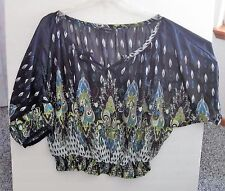 PAPER TEE 3 X PULLOVER BLOUSE  PAISLEY MULTI COLOR SHEER