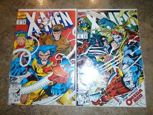 X-Men #4-5 1st OMEGA RED Appearance JIM LEE Art!! 2-comic LOT