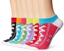 K. Bell Sport Womens Sneaker Low Cut No Show Socks 6-pack, Multi, One Size