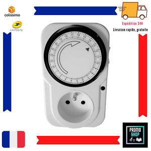 Programmateur journalier mécanique 24H minuteur minuterie prise programmable FRC