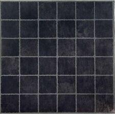 Vinyl Floor Tiles Self Adhesive Peel And Stick Black Grey Gray Flooring 12x12