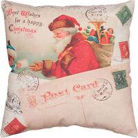 "Primitive By Kathy 16"" x 16"" Christmas Throw Pillow ""Letter To Santa"""