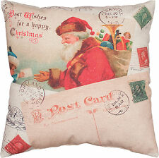 "Primitive By Kathy 16"" x 16"" Christmas Throw Pillow ""Letter To Santa"""