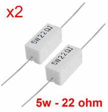 Resistenze 5W R22 5 watt a filo in cemento lotto 5 pezzi