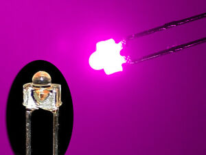 10 Stück LED 1,8mm pink superhell Mini Miniatur Leuchtdioden