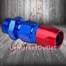 Red/Blue Straight Swivel Oil/Fuel/Fluid Line Hose End 10AN T3 Fitting Adapter