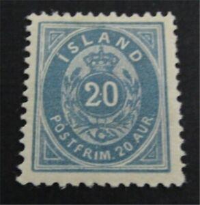 nystamps Iceland Stamp # 28 Mint OG H $68   L23y396