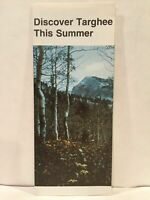 1978 DISCOVER TARGHEE THIS SUMMER WYOMING Rate Sheet Travel Brochure and Map