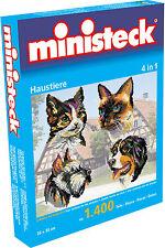Ministeck Creativ Set 31702 Housepet 4 in 1 1400 Pieces Pixel Puzzle Cat Dog