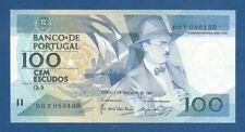 PORTUGAL -- 100 ESCUDOS ( 3.12.1987 ) -- UNC -- CHAPA 9 -- PICK 179d .