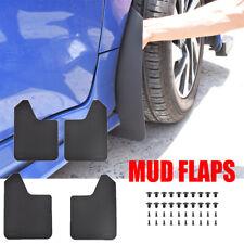 Universal Rally Mudguards Mud Flaps Splash Guards Mudflaps Fender Flares 4pc/Set