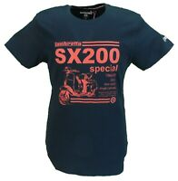 Lambretta Mens SX 200 Navy Retro 100% Cotton T Shirt …