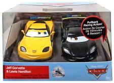 Disney Jeff Gorvette & Lewis Hamilton Pull 'N' Race Die Cast Set Cars Pixar