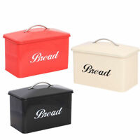 Stainless Steel Large Vintage Style Bread Bin Home Kitchen Retro Food Storage