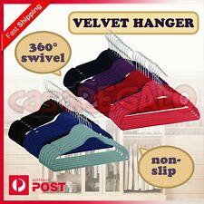 50pcs Coloured Coat Hanger Velvet Flocked Anti SLIM Clothes VELVET HANGER