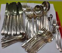 Besteck Silber 90er Silberaulage 12 Personen 63 teilig