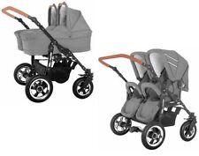 Duet Twin Zwillingskinderwagen Geschwisterwagen Kinderwagen 3 in1 mit Babyschale